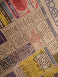 Shows to let classified ads