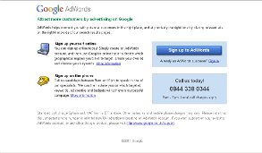 Image of Google Adwords Home Page